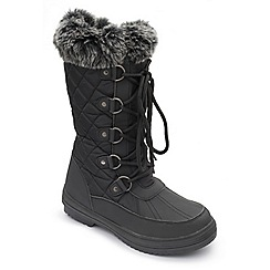 Padders - Black 'Blizzard' wide fit boots