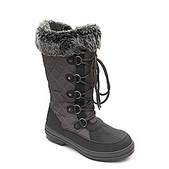 Padders - Grey 'Blizzard' wide fit boots