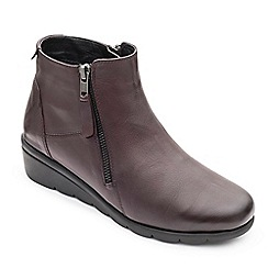 Padders - Leather 'Willow' mid heel wide fit boots
