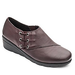 Padders - Leather 'Birch' mid heel wide fit shoes