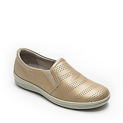 Padders - Metallic leather 'Gigi' wide fit shoes