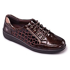 Padders - Light brown Atom' wide fit lace up shoes