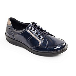 Padders - Navy Atom' wide fit lace up shoes