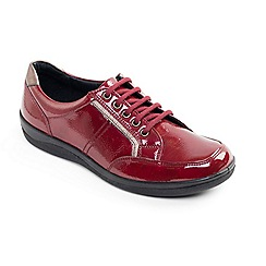 Padders - Red Atom' wide fit lace up shoes