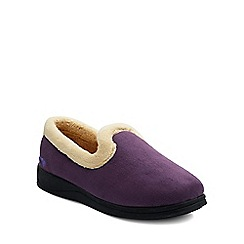 Padders - Purple 'Repose' womens memory foam slippers