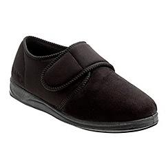 Padders - Black 'Charles' slipper