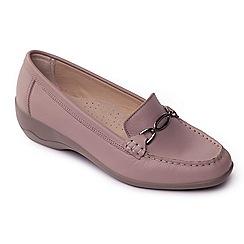 Padders - Natural leather 'Ellen' mid heel wide fit shoes
