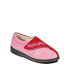Padders - Pink 'Hug' ballerina memory foam slippers