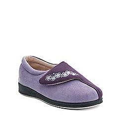 Padders - Purple 'Hug' ballerina memory foam slippers