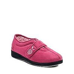 Padders - Pink 'Camilla' womens memory foam slippers