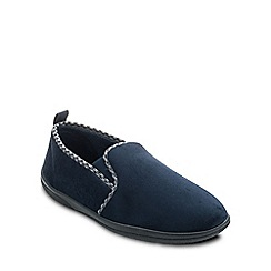 Padders - Navy 'Lewis' mens memory foam slippers