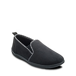 Padders - Black 'Lewis' mens memory foam slippers
