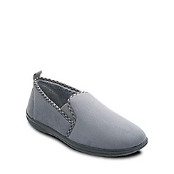 Padders - Grey 'Lewis' mens memory foam slippers
