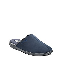 Padders - Navy 'Luke' mens memory foam slippers