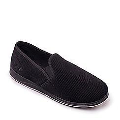 Padders - Black 'Albert' Mens Memory Foam Slippers
