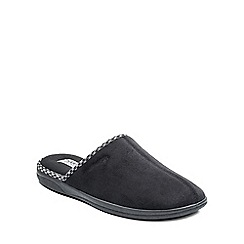 Padders - Black 'Luke' mens memory foam slippers