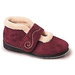 Padders - Dark red padders 'hush' women's memory foam slippers