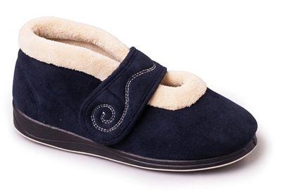 Padders - Navy padders padders padders 'hush' women's memory foam slippers 1bb040
