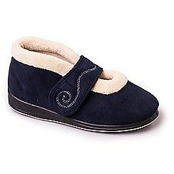 Padders - Navy padders 'hush' women's memory foam slippers
