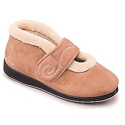 cheap pay with paypal footlocker finishline online Taupe/camel padders 'hush' women's memory foam slippers vvID4MK