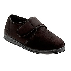 Padders - Black 'Charles' wide fit slippers