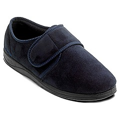 Padders - Navy 'Charles' wide fit slippers