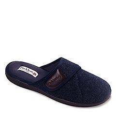 Padders - Navy 'Baxter' men's memory foam slippers
