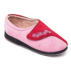 Padders - Red 'Hug' wide fit slippers