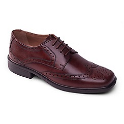 Padders - Brown leather Reid' wide fit lace up shoes