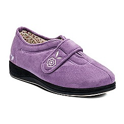 Padders - Lilac 'Camilla' wide fit slippers