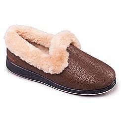 Padders - Bronze 'Luxury' women's memory foam slippers