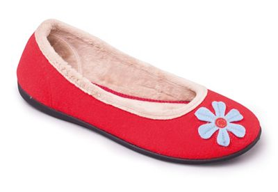 Padders - slippers Red 'Happy' wide fit slippers - 40c8c6