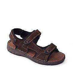 Padders - Brown 'Ocean' men's leather sandals