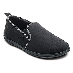 Padders - Black 'Lewis' wide fit slippers