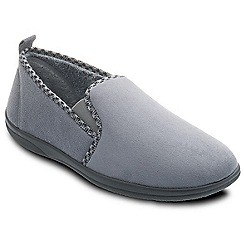 Padders - Grey 'Lewis' wide fit slippers