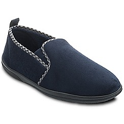 Padders - Navy 'Lewis' wide fit slippers