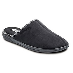 Padders - Black 'Luke' wide fit slippers