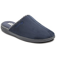 Padders - Navy 'Luke' wide fit slippers