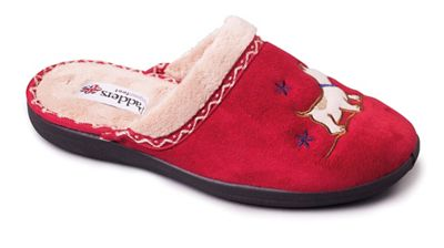 Padders - Red 'Scotty' women's memory foam slippers