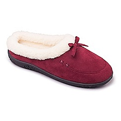 Padders - Dark Red 'Snug' women's memory foam slippers