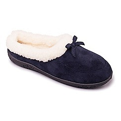 Padders - Navy 'Snug' women's memory foam slippers