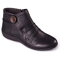 Padders - Black 'Carnaby' Women's Leather Ankle Bootss