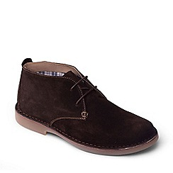 Padders - Dark Brown 'Joe' Wide Fit Shoes