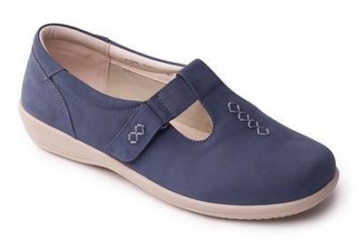 Padders - Light and blue 'solo' wide fit touch and Light close shoes 6d439b
