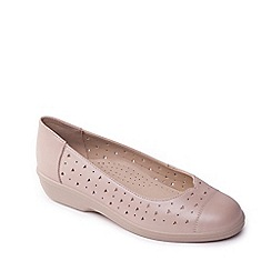 Padders - Taupe 'faye' wide fit pumps