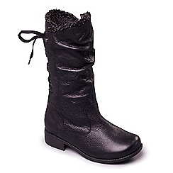 Padders - Leather 'Piper' mid heel wide fit calf boots
