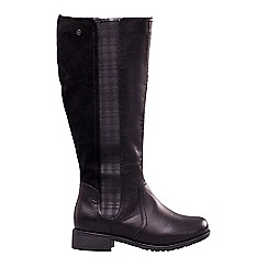 Padders - Leather 'Myra' mid heel wide fit calf boots
