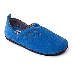 Padders - Blue 'Riva' women's felt memory foam slippers