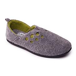 Padders - Grey 'Riva' women's felt memory foam slippers