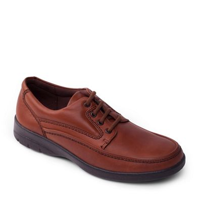Padders - Tan leather 'Fire' wide fit shoes